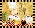 Good Food, Good Life Umělecká reprodukce od Dan Dipaolo