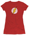 Juniors: DC Comics - The Flash Logo - Distressed T-Shirt