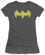Juniors: DC Comics - Batgirl - Logo Distressed T-Shirt