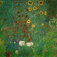 Farm Garden with Sunflowers, ca. 1912 Kunsttryk af Gustav Klimt