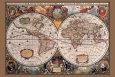 Verdenskort fra 1600-tallet Plakat