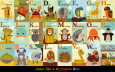 Alphabet Zoo Art Print by Jenn Ski