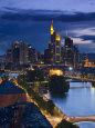 Skyline, Frankfurt-Am-Main, Hessen, Germany Fotografisk tryk af Walter Bibikow
