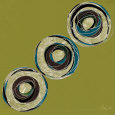 Olive Circles Art Print by Alan Buckle