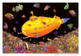 Yellow Submarine Blacklight Poster