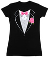 Juniors: Tuxedo T-Shirt
