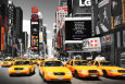 Times Square - Yellow Cabs Affiche