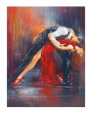 Tango Dancers (Decorative Art) Posters