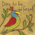 Be Different Art Print by Anne Tavoletti