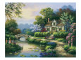 Swan Cottage II Giclee Print by Sung Kim