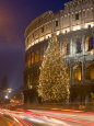 Colosseum at Christmas Time, Rome, Lazio, Italy, Europe Fotografisk tryk af Marco Cristofori
