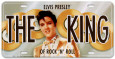 Elvis The King License Plate Plaque en métal