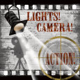Lights! Camera! Action! Art Print by Conrad Knutsen
