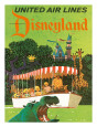 United Airlines Disneyland, Anaheim, California, 1960s Gicleetryck av Stan Galli
