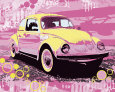Vintage Beetle Reproduction d'art par Michael Cheung