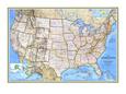 Kort over USA fra 1993 Kunsttryk af National Geographic Maps