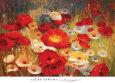 Røde blomster (dekorativ kunst) Posters