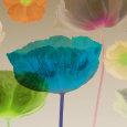 Poppy Panorama II Kunsttryk af Robert Mertens