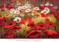 Red Flowers (Decorative Art) Posters
