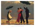 Den syngende butler Kunsttryk af Jack Vettriano