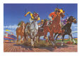 Horse Race Seen from Below Giclee Print