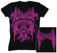 Juniors: Metallica - Winged Logo T-shirt til damer (tætsiddende)