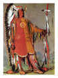 Mato-Tope, Second Chief of the Mandans, 1832 Giclee Print by George Catlin