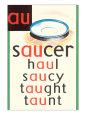 AU in Saucer Kunsttryk