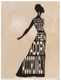 Text Dress Art Print by Lisa Vincent