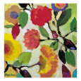 Floral Tile III Gicleetryck av Kim Parker