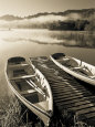 Canoes (B&W Photography) Posters
