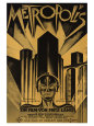 Metropolis, German Movie Poster, 1926 Kunsttryk