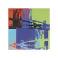 Brooklyn Köprüsü, 1983, Turuncu, Mavi, Yeşil Giclee Baskı ilâ Andy Warhol