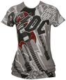 Juniors: AC/DC - High Voltage T-shirt til damer (tætsiddende)