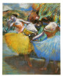 Three Dancers (Degas) Posters