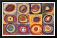 Studium koloru: kwadraty z koncentrycznymi okręgami, ok. 1913 (Farbstudie Quadrate, c.1913) Lamina Framed Poster według Wassily Kandinsky