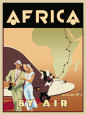Africa by Air Kunsttryk af Brian James
