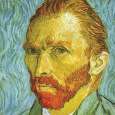 Self Portrait (detail) Kunsttryk af Vincent van Gogh