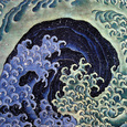 Feminine Wave (detail) Kunsttryk af Katsushika Hokusai