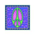 Peace sign (green) Giclée-tryk af Kem Mcnair