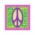 Peace sign (purple) Giclée-tryk af Kem Mcnair