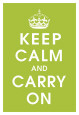 Keep Calm (kiwi) Kunsttryk