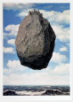 Slottet i Pyrenæerne Kunsttryk af Rene Magritte