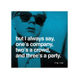 Tre er nok til en fest, på engelsk Giclée-tryk af Andy Warhol