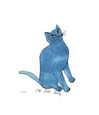 One Blue Pussy, c.1954 Giclée-tryk af Andy Warhol