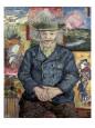 Père Tanguy (Father Tanguy) Kunsttryk af Vincent van Gogh