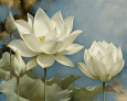White Flowers (Decorative Art) Posters