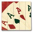 Four Aces Cartel de madera
