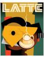 Cubist Latte II Giclee-tryk i høj kvalitet af Eli Adams