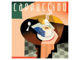 Cubist Cappucino I Giclee-tryk i høj kvalitet af Eli Adams